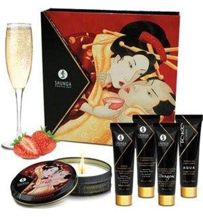 Kit Secretos de Geisha Shunga Fresas con cava