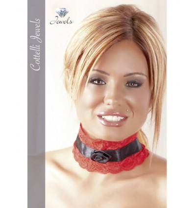 Gargantilla de Encaje Rojo Cotelli Jewels